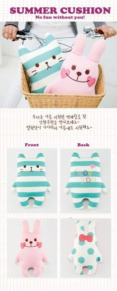 Artbox plushie bunny travel cushion from a tshirt