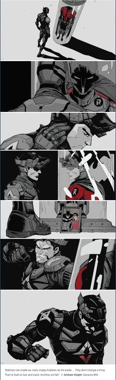 arkham knight Foto Batman, Batman Y Superman, Batman Arkham Knight, Batman Art, Red Hood Comic, Batman Red Hood, Gotham, Comic Books Art, Comic Art