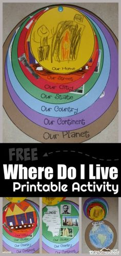 FREE Printable Where Do I Live Activity - fun hands-on project to help preschool prek kindergarten and first graders where they live home street city state country continent planet. Perfect for Social Studies: Expanding Horizons unit Preschool Social Studies, 3rd Grade Social Studies, Social Studies Curriculum, Social Studies Lesson Plans, Social Studies Worksheets, Social Studies Classroom, Social Studies Activities, Preschool Kindergarten, Elementary Social Studies