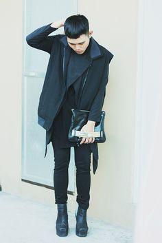 colorful in black
