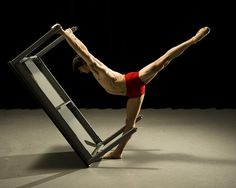 Male dancer with table