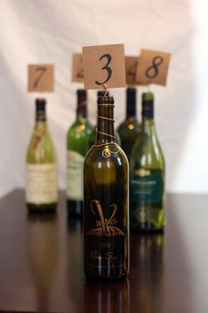 Wire Wine Bottle Topper Table Number Markers/holders Rustic Country Vineyard…