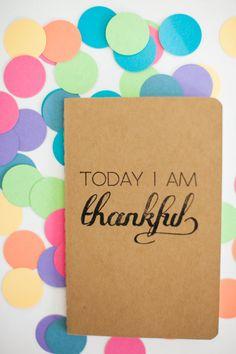 Mini Thankful Moleskin Journal