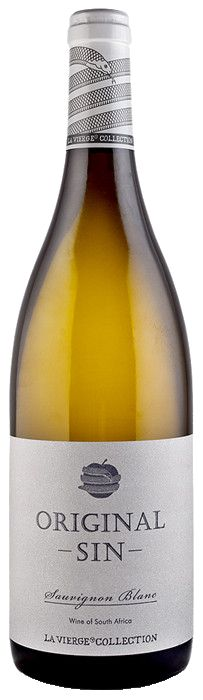 """La Vierge Original Sin 2011. As La Vierge put it, in Hemel-en-Aarde Chardonnay is all the rage. They """"sinned"""" by planting Sauvignon Blanc: the forbidden fruit """"in the knowledge that it would bring us infinite knowledge about this cool climate variety"""". Tropical fruit aromatics with some minerality, on the palate tropical melon with a hint of lemongrass and a mineral finish. All in all, zesty and bright."""