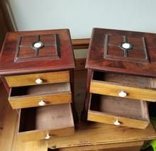 Load image into Gallery viewer, Pair of Miniature Mahogany Chest of Drawers Wood Drawers, Chest Of Drawers, Drawer Dividers, Miniatures, Antiques, Table, Furniture, Gallery, Home Decor