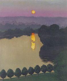 Landscape painting by Félix Vallotton, 1865 - Pierre Bonnard, Landscape Art, Landscape Paintings, Kunst Online, Edouard Vuillard, Claude Monet, Painting & Drawing, Amazing Art, Modern Art