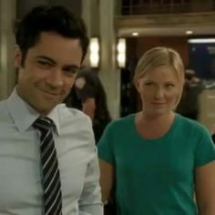 Danny Pino and Kelli Giddish cute