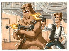 Han and Chewie by OtisFrampton.deviantart.com on @deviantART