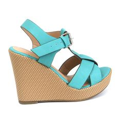 """Womens Shoes Platform Wedge 4"""" Heel Sandals Open Toe Ankle Strap Padded Sole New   eBay"""