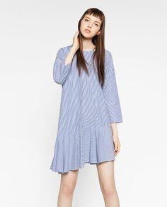 Image 1 of ASYMMETRIC STRIPED DRESS from Zara