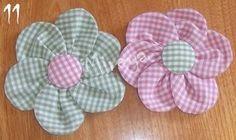 Tuto fleur pour barrette - Accessoires pour cheveux - Cortèges de Garance