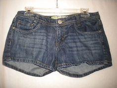 11.87$  Watch now - http://virwc.justgood.pw/vig/item.php?t=9242tnk32107 - Roxy Size 7 Cotton 5 pocket Medium Wash Denim Jean Junior Short Shorts
