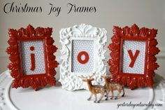DIY Christmas Joy Frames Gift