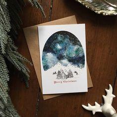 Starry Sky Christmas Card  Single Card
