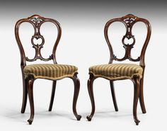 Set of Six Mid-Victorian Rosewood Balloon Back Chairs