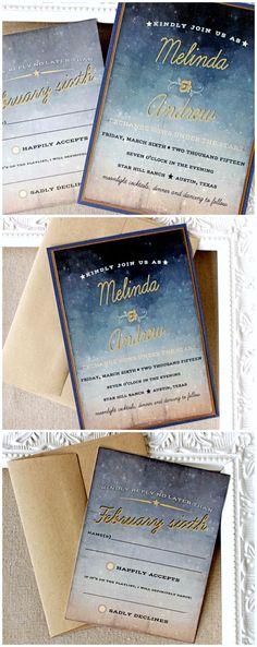 Starry Night wedding Invitation | Sunshine and Ravioli