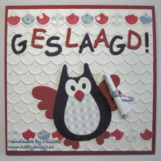 Geslaagd uiltje met Holland thema Marianne Design, Scrap, Kids Rugs, School, Cards, Decor, Hedgehogs, Kid Friendly Rugs, Tat