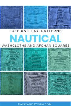 Knitted Squares Pattern, Knitted Dishcloth Patterns Free, Knitting Squares, Knitted Washcloths, Dishcloth Knitting Patterns, Crochet Dishcloths, Knitting Designs, Knitting Ideas, Knitting Projects