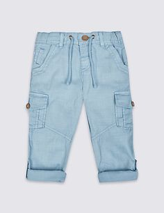 Buy the Pure Cotton Trousers Months - 5 Years) from Marks and Spencer's range. Baby Outfits, Cute Summer Outfits, Toddler Outfits, Kids Outfits, Jogging, Chicos Fashion, Baby Jeans, Patterned Jeans, Kids Fashion Boy