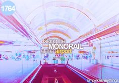 taking the monorail at the airport