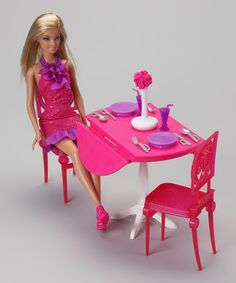 LOOK!  Barbie has a dinner date with Obama!!! on #zulily today!