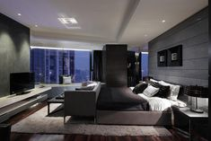 Gorgeous. I'd love a contemporary style bedroom that has that swanky hotel feel with an amazing view.