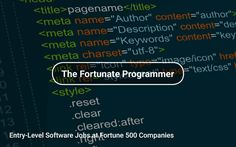 #EntryLevel #Software Jobs at #Fortune500 Companies 📱 https://tapwage.com/channel/the-fortunate-programmer