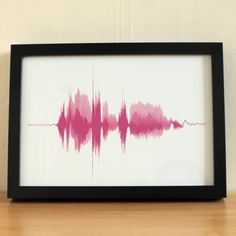 """I love you"" sound wave recording."