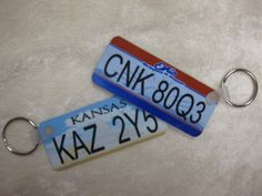 SET - Kansas and Ohio Supernatural TV series Metallicar Impala license plates