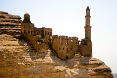 Photograph Brown Stone Islamic Mosque on Cairo Mountain Egypt by HenaTayebPhotography, $15.00