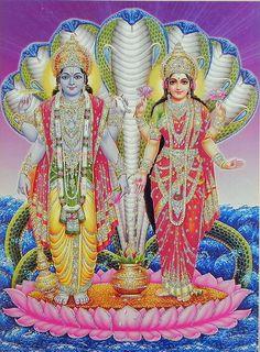 Lord Vishnu and Goddess Lakshmi/ Hindu God Poster with Glitter X Inches Krishna Radha, Lord Krishna, Lord Shiva, Hanuman, Avatar Poster, Lord Vishnu Wallpapers, Om Namah Shivay, Krishna Wallpaper, Goddess Lakshmi