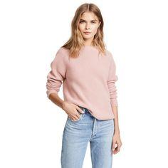 Jenni Kayne Cashmere Fisherman Sweater ($395) ❤ liked on Polyvore featuring tops, sweaters, blush, pink sweater, cashmere crewneck sweater, crew-neck sweaters, j.crew cashmere sweaters and fisherman's sweaters