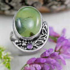 LITORI - DŹWIĘK KWITNĄCEJ ZIELENI - Srebrny pierścionek