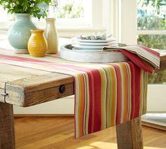 detalhes da toalha com amarelo e vermelho