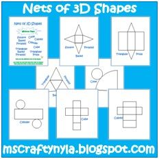 Free! 3 D shapes!!!!  Great idea for teaching descriptors and positions....