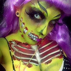 Zombie pin up halloween make up