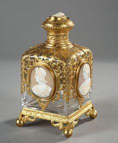 French Perfume Bottle, c 1863