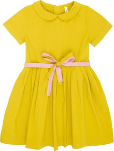 This sweet, little, yellow, peter-pan collar dress.