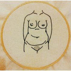 Tire seu preconceito das minhas curvas #embroidery #clubedobordado #handmade #naked #nu #brasil #sp #free #freedom #vscocam