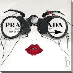 I See Prada by Working Girls Design Graphic Art on Wrapped Canvas
