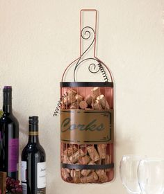 Hanging Wine Cork Holder | LTD Commodities  This would be perfect for Keri.