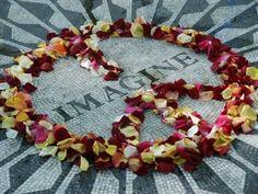 "Central Park-Strawberry Fields, New York   We stood in a circle of LOVE right here <3  In Loving Memory of John Lennon, singer/Song writer of ""Imagine"""