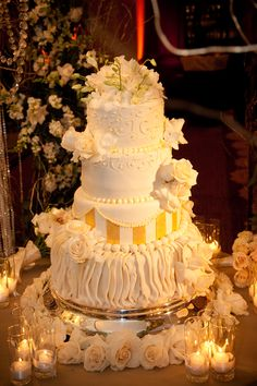 Candles and cake! #Weddings #Cake