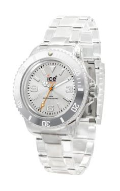 Ice-Watch Women s CL.SR.S.P.09 Classic Collection Silver Dial Clear Plastic 68cf0bccdd