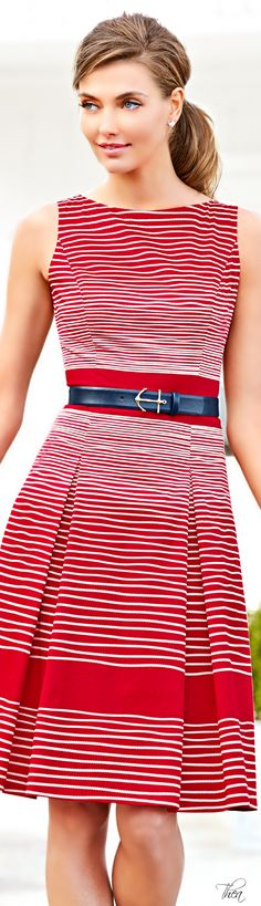 This is a great dress!  Talbots  ● SS 2014 via @viviennerouget. #dresses #Talbots