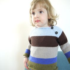 Boys Hand Knitted Sweater -  via Etsy.