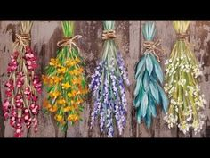 Easy Flowers and Herbs LIVE Beginner Step by Step Acrylic Painting Tutorial - YouTube