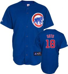 Chicago Cubs Geovany Soto 18 Blue Authentic Jersey Sale