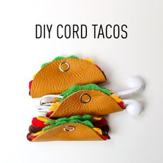 Here's our tutorial on how to make the cutest cord tacos / DIY cord organizer. We have one for a simple shell and one with all the fillings!