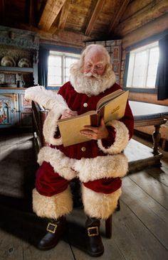 Santa Claus Checking His List! Christmas Scenes, Father Christmas, Santa Christmas, Country Christmas, Christmas Wishes, Christmas Pictures, All Things Christmas, Christmas Time, Vintage Christmas